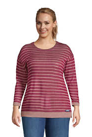 Women's Plus Size Reversible 3/4 Sleeve Top