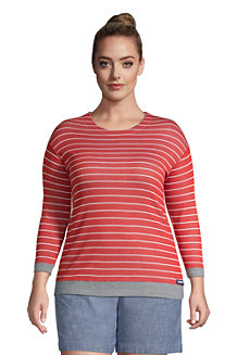 Women's Three-Quarter Sleeve Reversible Jersey Top