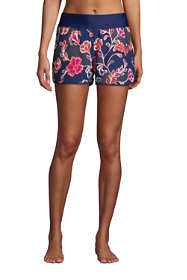 "Women's 3"" Quick Dry Elastic Waist Board Shorts Swim Cover-up Shorts with Panty Print"