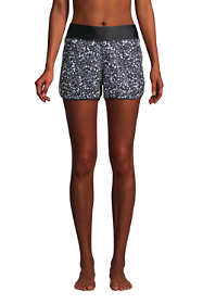 "Women's 3"" Quick Dry Elastic Waist Swim Shorts with Panty Print"
