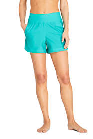 "Women's 3"" Quick Dry Elastic Waist Board Shorts Swim Cover-up Shorts with Panty"