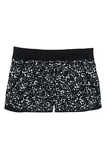"Women's Plus Size 3"" Quick Dry Elastic Waist Board Shorts Swim Cover-up Shorts with Panty Print, Front"