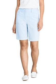 Women's Stretch Seersucker Bermuda Shorts