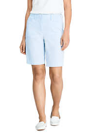 "Women's Petite Mid Rise 10"" Chino Seersucker Shorts"