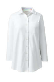 School Uniform Women's Cotton Knit 3/4 Sleeve Button Down Shirt