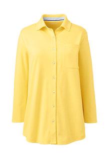 Women's Three-Quarter Sleeve Knit Cotton Shirt