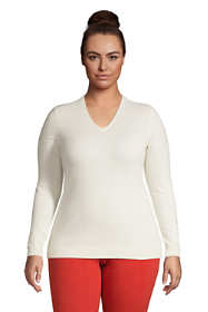 Women's Plus Size Cashmere V-neck Sweater