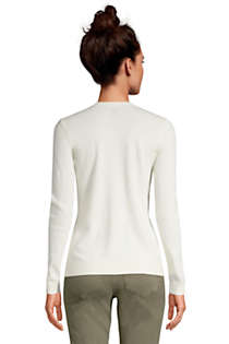 Women's Cashmere V-neck Sweater, Back
