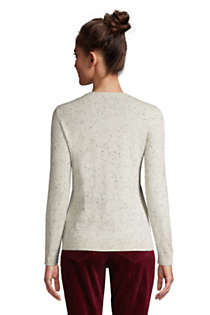 Women's Tall Cashmere V-neck Sweater, Back