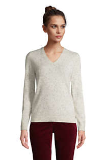 Women's Tall Cashmere V-neck Sweater, Front