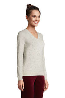 Women's Tall Cashmere V-neck Sweater, alternative image