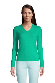 Kaschmir-Pullover mit V-Ausschnitt für Damen