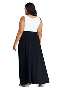 Women's Plus Size Knit Maxi Skirt, Back