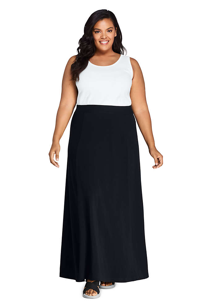 Women's Plus Size Knit Maxi Skirt, Front