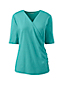 Women's Cotton/Modal Elbow Sleeve Wrap Front Top