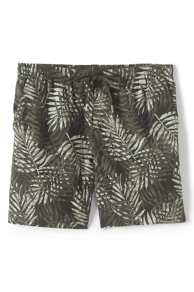 "Men's 7"" Linen Deck Shorts, Front"