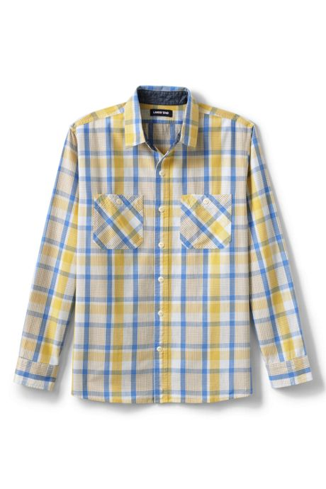Men's Traditional Fit Chambray Work Shirt
