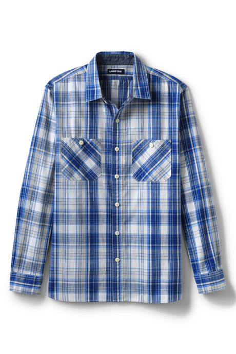 Men's Big & Tall Traditional Fit Chambray Work Shirt