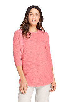 Women's Linen/Cotton Dolman Sleeve Tunic Jumper