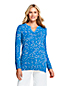 Women's Cotton Blend Space-dye Notch Neck Tunic