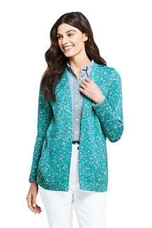 Women's Cotton Blend Long Sleeve Open Cardigan