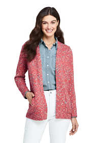 Women's Cotton Blend Open Long Cardigan Sweater