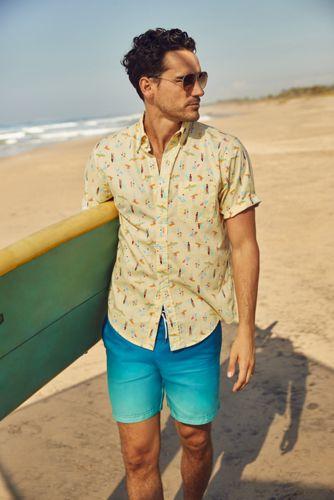 Men's Tall Traditional Fit Short Sleeve Essential Lightweight Poplin