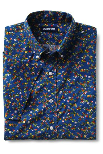 Men's Tall Traditional Fit Short Sleeve Essential Lightweight Poplin