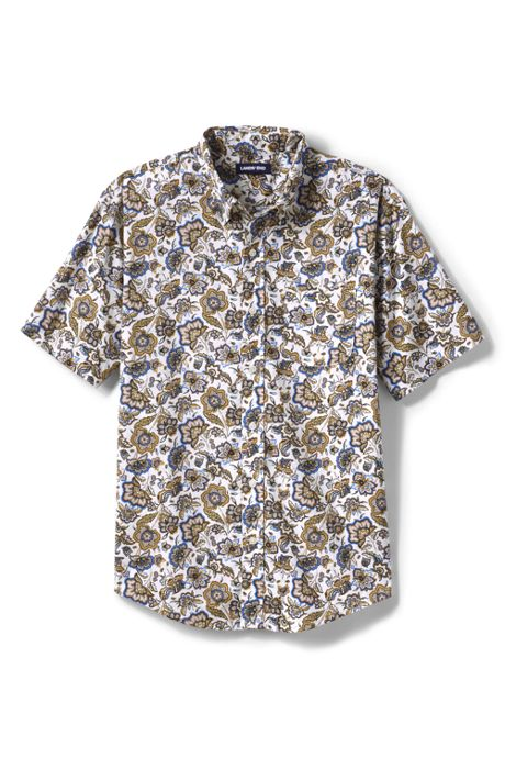 Men's Traditional Fit Short Sleeve Essential Lightweight Poplin