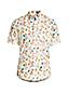 Chemise en Popeline Imprimée à Manches Courtes Coupe Classique, Homme Stature Standard