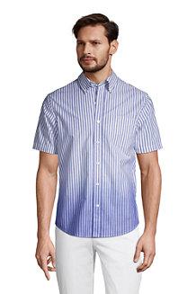 Gemustertes Popelin-Kurzarmhemd für Herren, Classic Fit