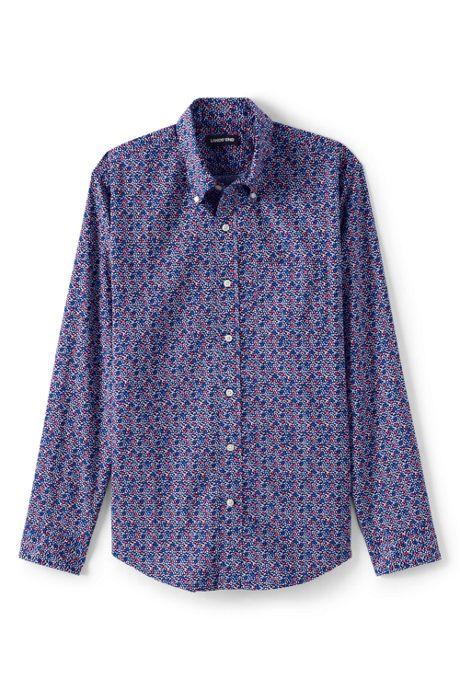 Men's Big and Tall Traditional Fit Essential Lightweight Poplin Shirt