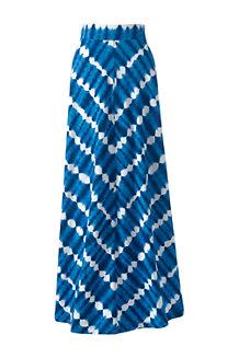 Women's Cotton-modal Jersey Maxi Skirt in Stripe