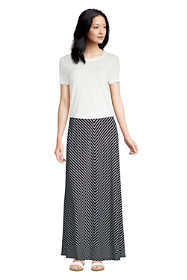 Women's Petite Stripe Maxi Skirt