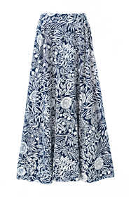 Women's Plus Size Print Maxi Skirt
