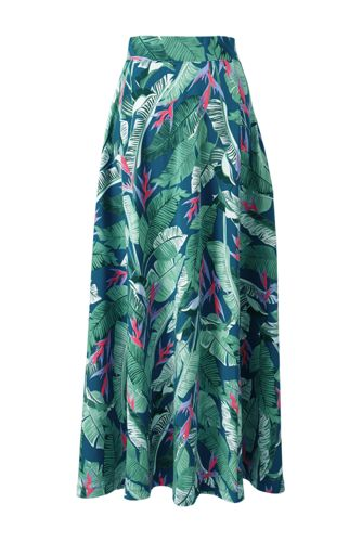 Women's Print Cotton-modal Jersey Maxi Skirt