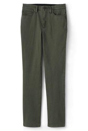 Farbige Shaping Jeans EcoVero, Straight Fit High Waist für Damen in Petite-Größe
