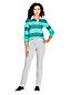 Jean Amincissant Droit Taille Haute Teinté, Femme Stature Petite