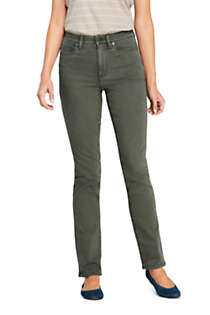 Women's High Rise Compression Straight Leg Colorful Jeans, Front