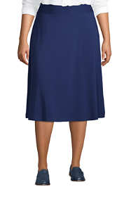 Women's Plus Size Knit Midi Skirt