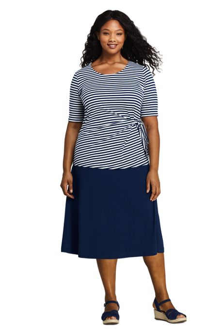 Women's Plus Size Knit Midi Skirt