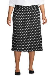 Women's Plus Size Print Knit Midi Skirt