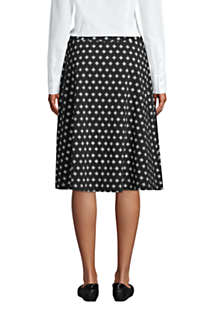 Women's Print Knit Midi Skirt, Back