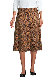 Women's Print Cotton-modal Jersey Midi Skirt
