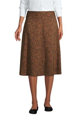 Jupe Mi-Longue en Jersey Strech Imprimée, Femme Grande Taille