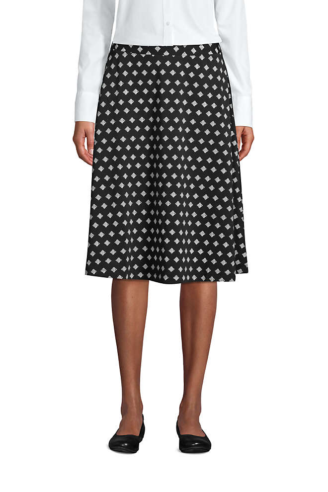 Women's Print Knit Midi Skirt, Front