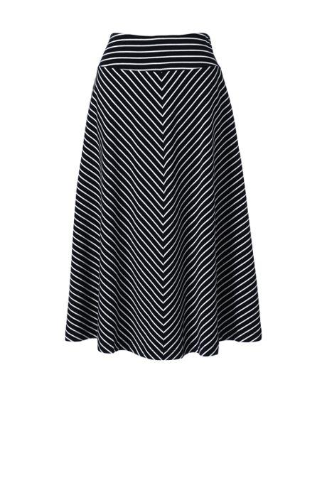 Women's Petite Stripe Knit Midi Skirt