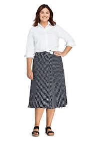 Women's Plus Size Stripe Knit Midi Skirt