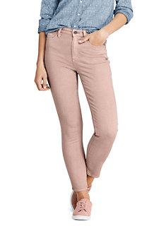Knöchellange Jeans EcoVero, Slim Straight High Waist in Farbe