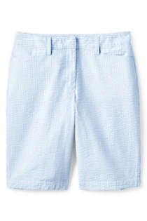 "Women's Mid Rise 12"" Chino Seersucker Shorts, Front"